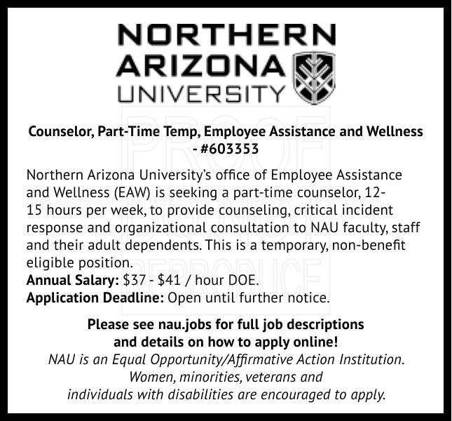 Counselor, Part-Time Temp, Employee Assistance and Wellness