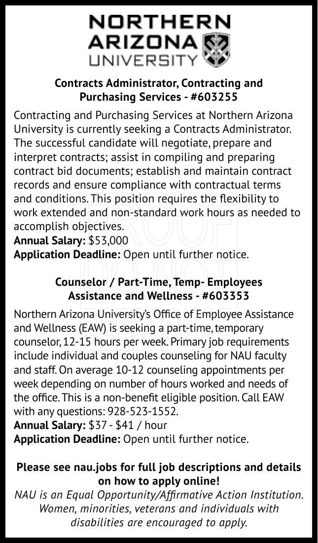 Contracts Administrator & Counselor / Part-Time