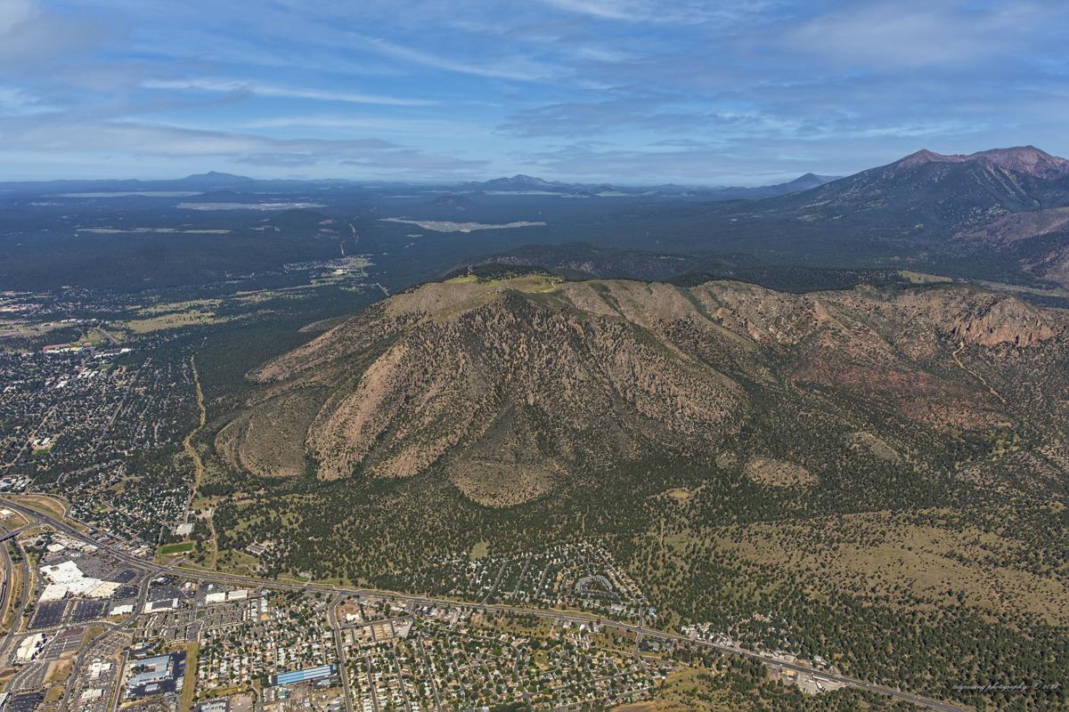 Ariel View of Mount Elden