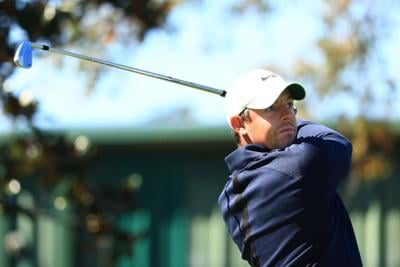 Rory McIlroy of Northern Ireland plays his shot from the 2nd tee during the first round of the Arnold Palmer Invitational Presented by MasterCard at the Bay Hill Club and Lodge in Orlando, Florida, on Thursday, March 4, 2021.