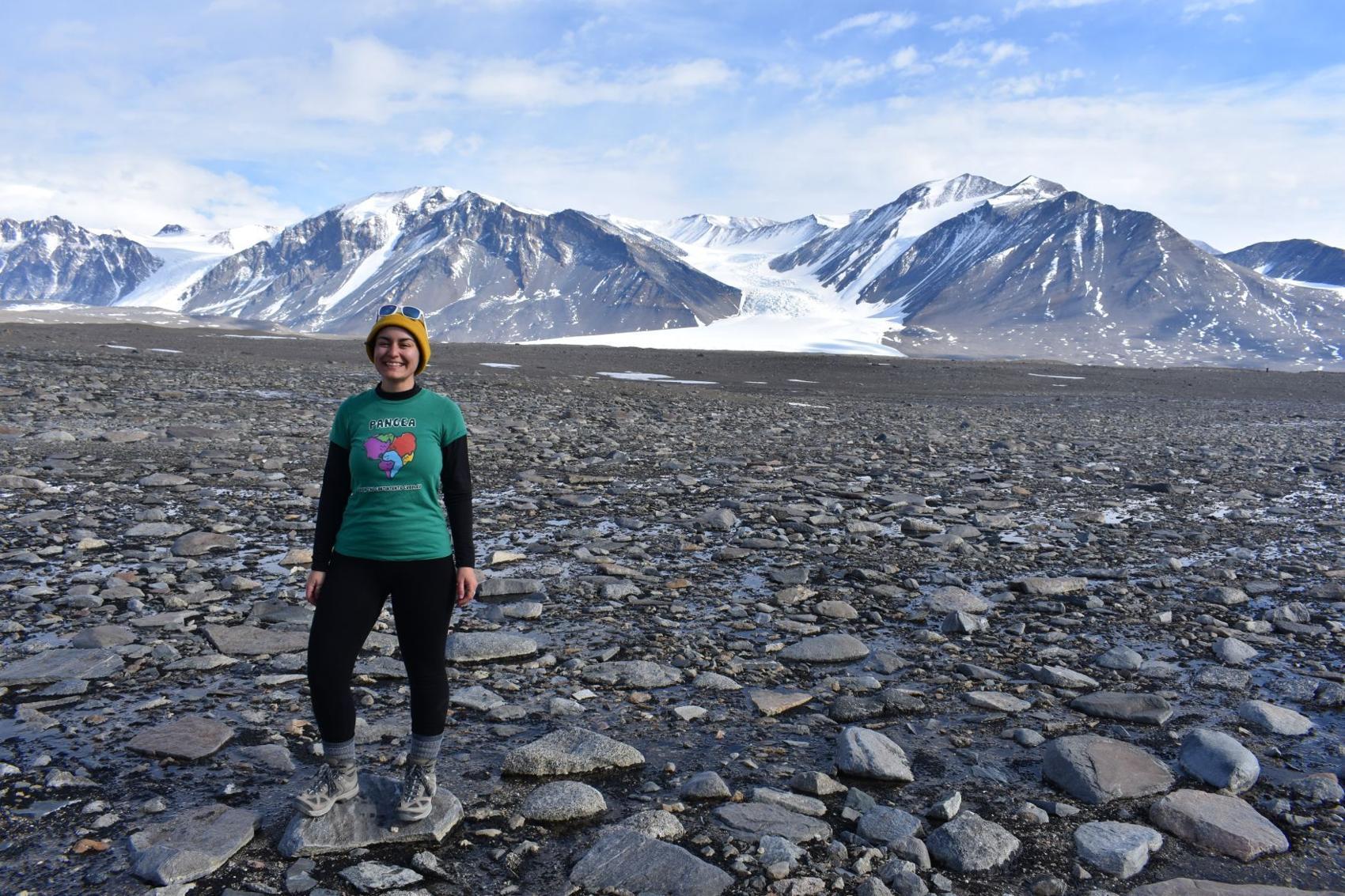 Schuyler Borges in Antarctica