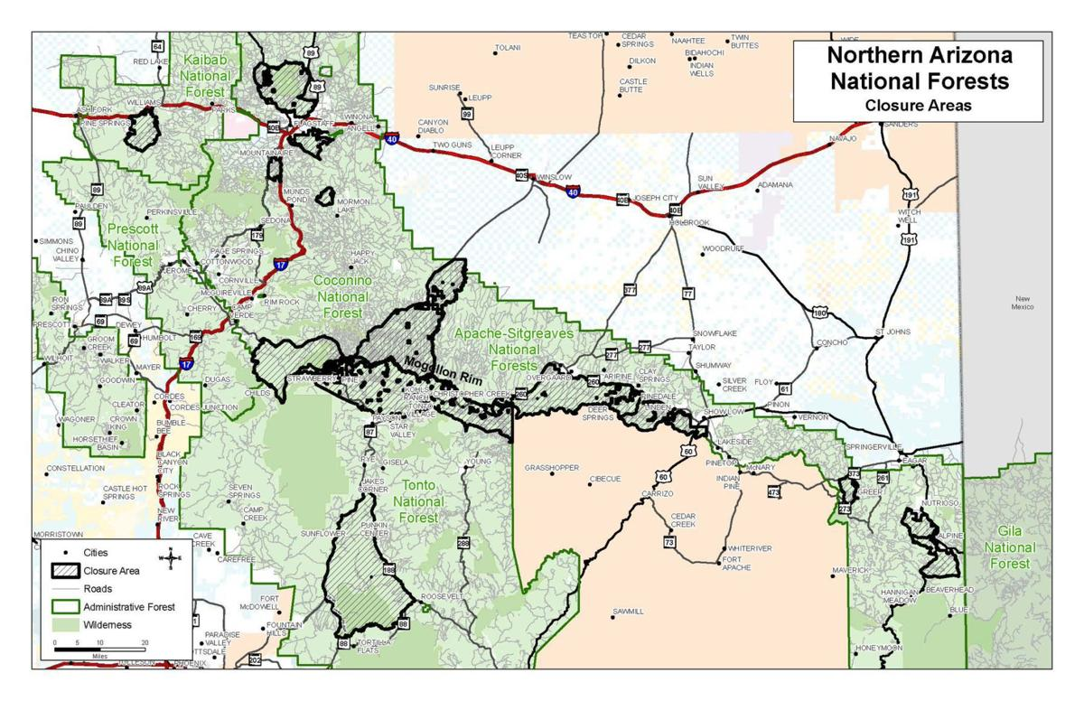 Map Of Just Arizona.4 May 28 Partial Closures In Effect Across Four Forests In
