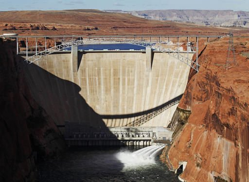 Glen Canyon Dam on Colorado River