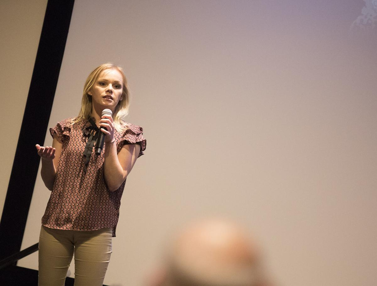 Sex trafficking survivor shows how to help victims at Cline Library event