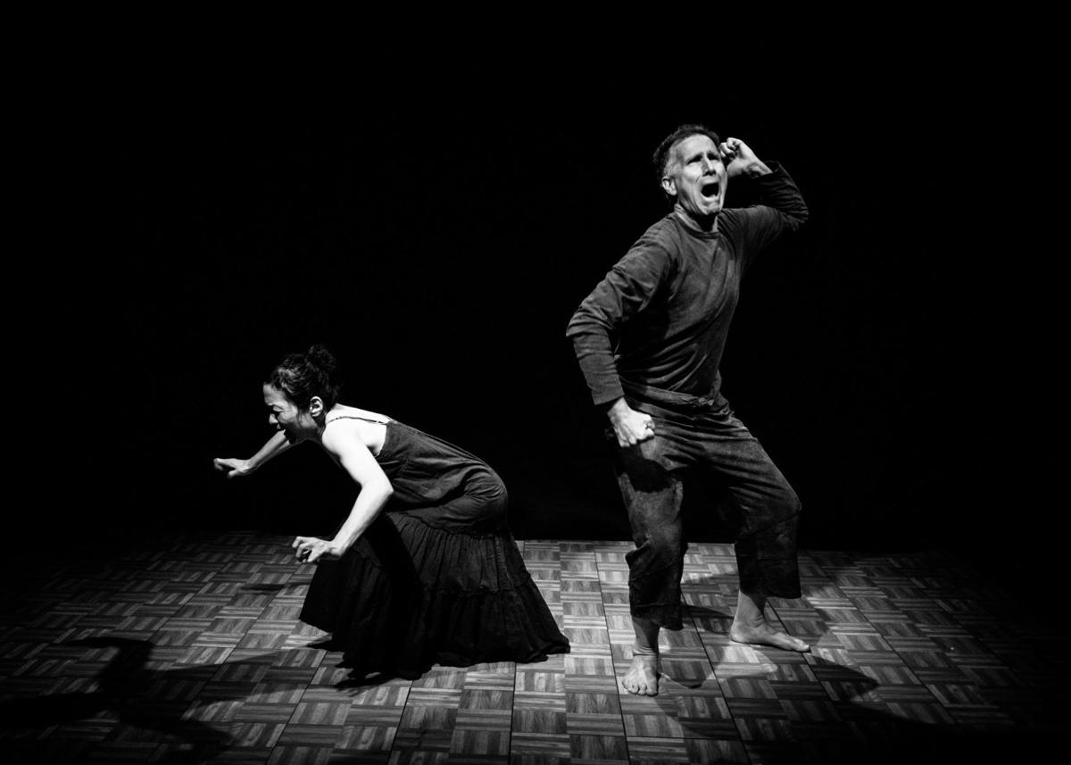 Eriko Starley (left) and Paul Moore will dance together in 'Being Human,' part of a three-piece series.
