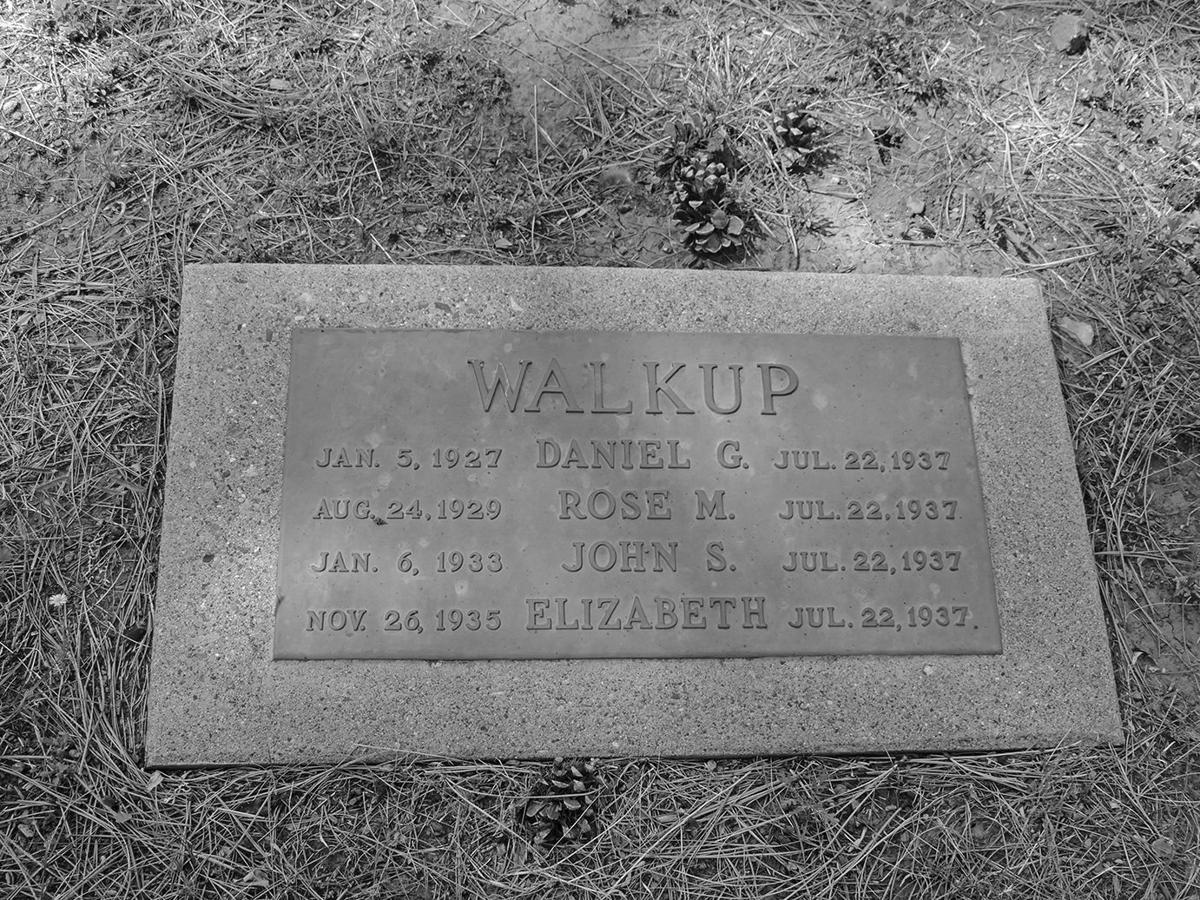 Walkup children gravestone