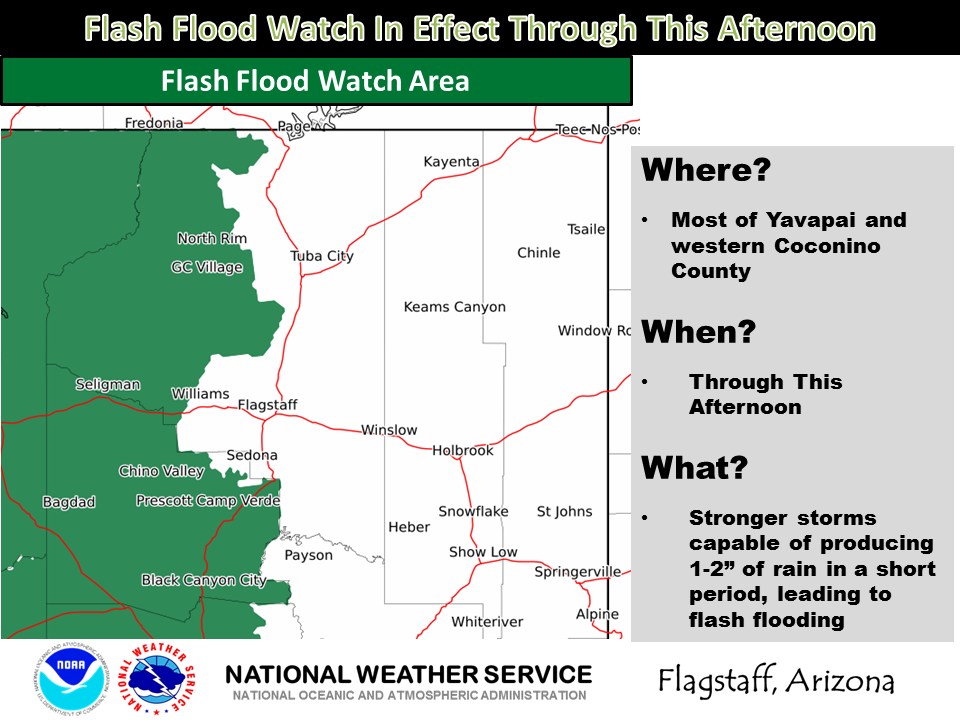Flash flood watch, wind advisory for Monday and Tuesday