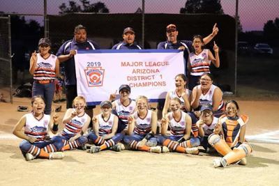 2019 Softball Little League Majors All-Stars win district