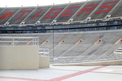 A view of the empty stands inside Clemson Memorial Stadium on the campus of Clemson University on June 10, 2020 in Clemson, South Carolina. The campus remains open in a limited capacity due to the coronavirus (COVID-19) pandemic.