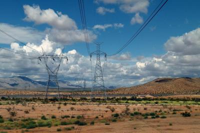 Power lines in Arizona