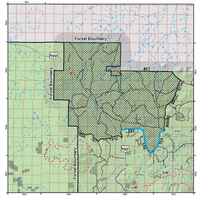 Slate Fire area closure - Coconino National Forest