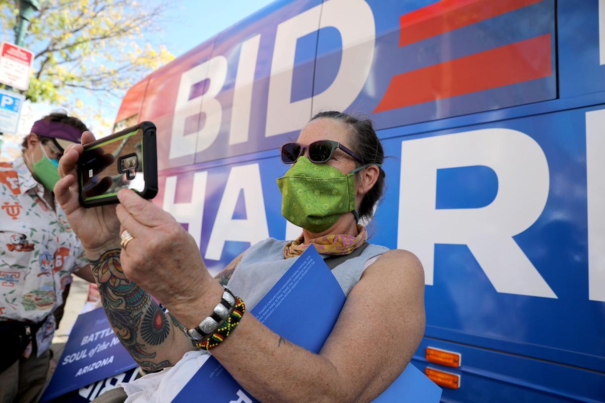 Biden Bus Visits Flagstaff