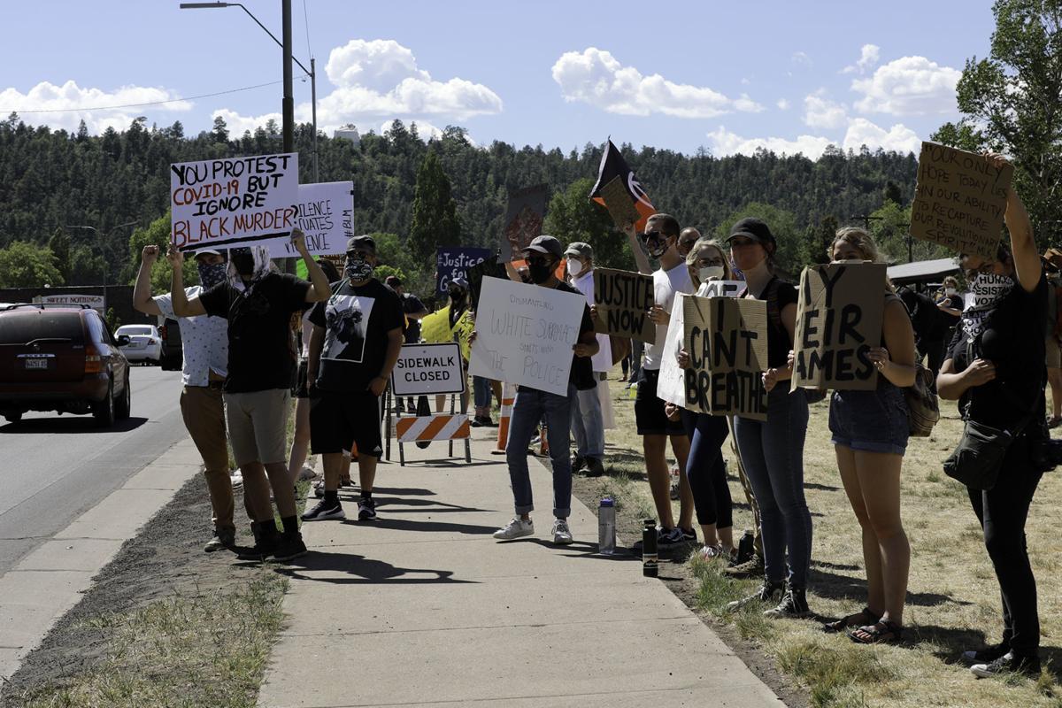 Black Lives Matter George Floyd Protest in Flagstaff