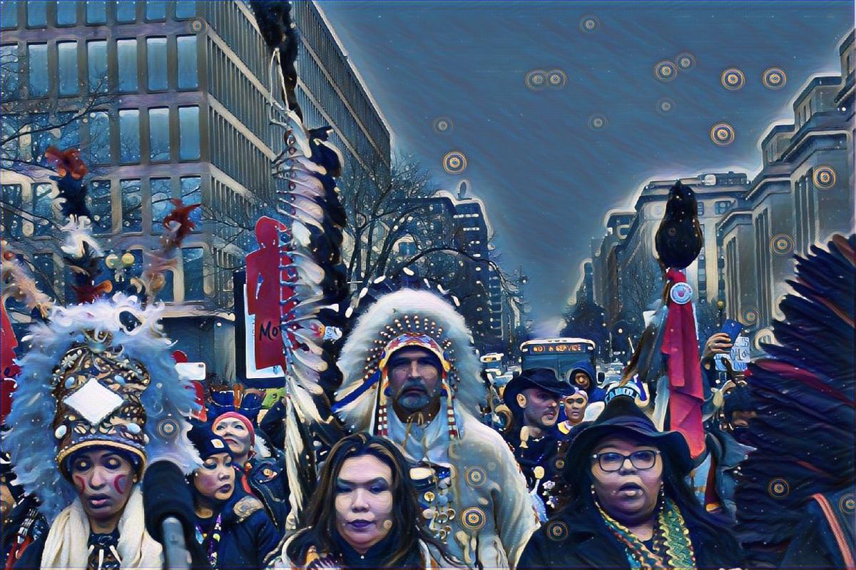 We Are Still Here, digital photograph, 2019, Aretha Shining Moon