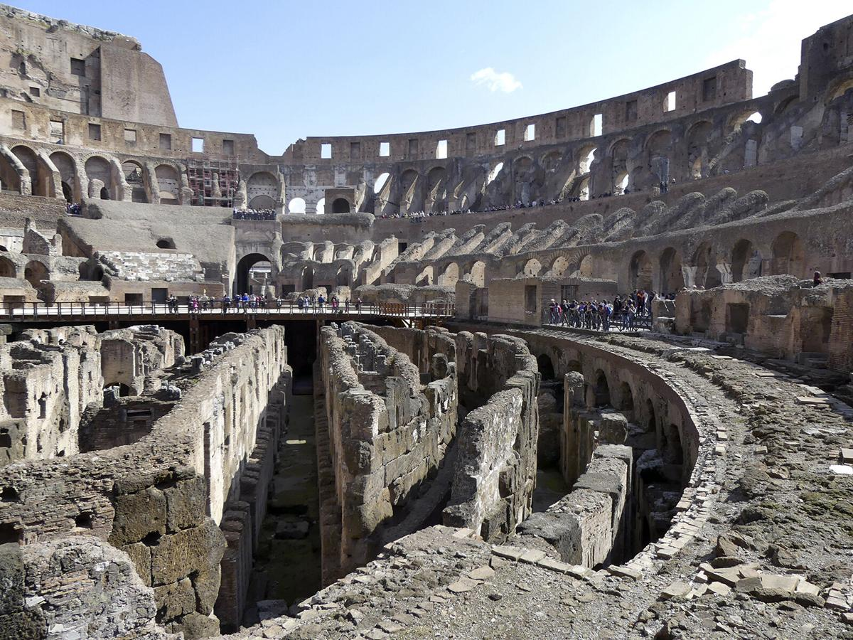 For a building constructed beginning in 70 A.D., the Colosseum is remarkably intact.