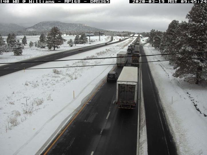 Traffic on westbound I-40