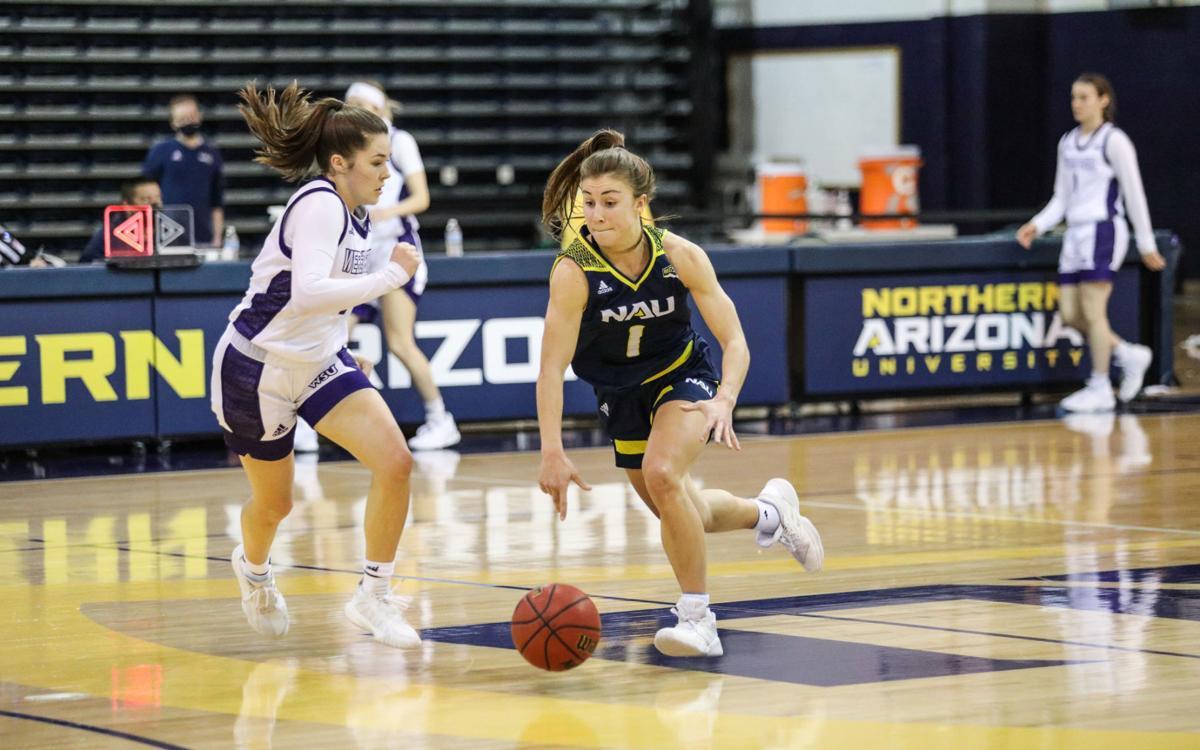 Northern Arizona women's basketball versus Weber State