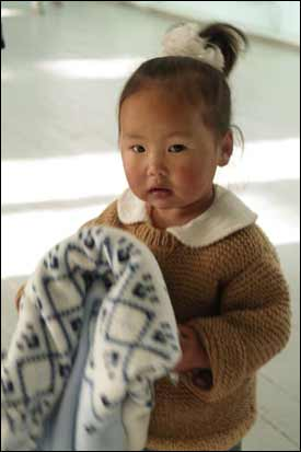 Knit a sweater and keep a child warm in Mongolia
