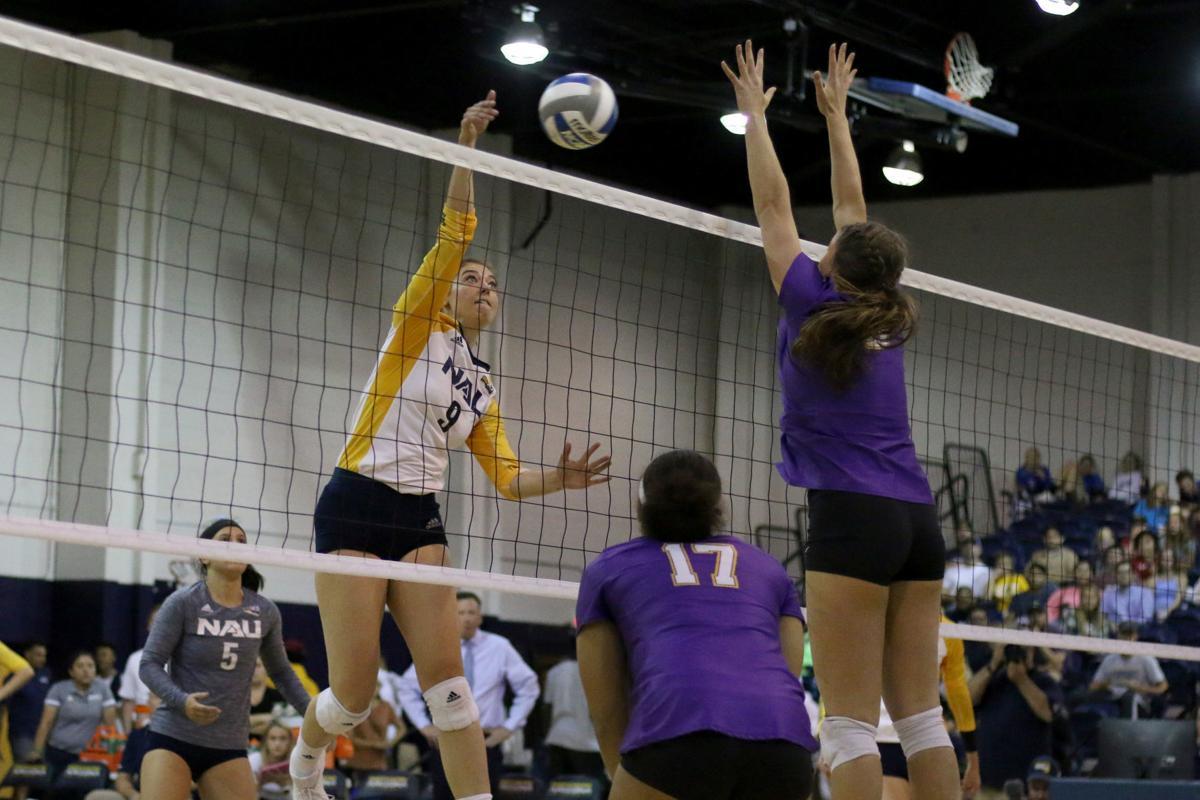 NAU Volleyball Akin Against LSU