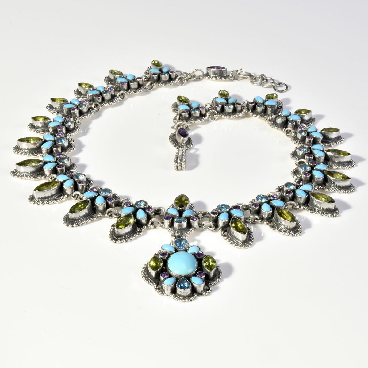 Sparkling Southwest Necklace by Leo Feeney