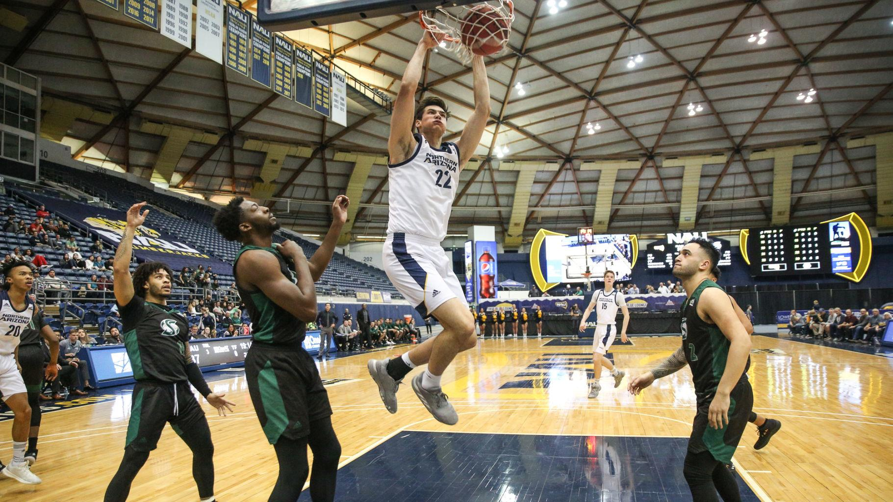 NAU Roundup: Men's basketball uses strong shooting to beat Sacramento State