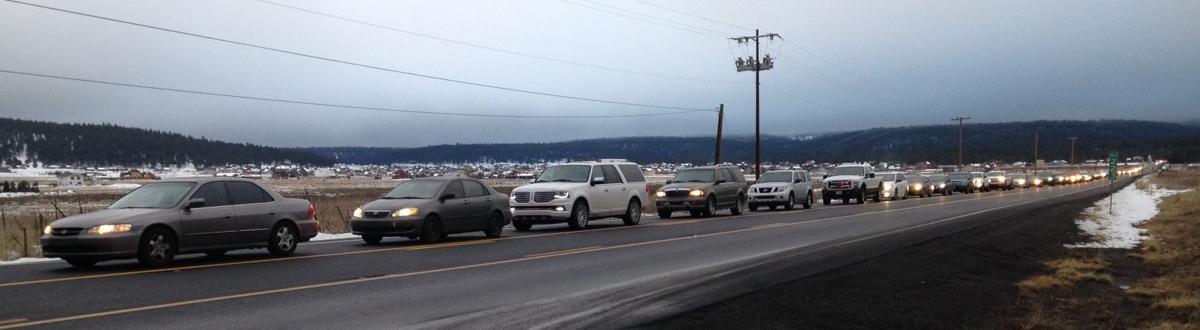 Highway 180 snowplay traffic