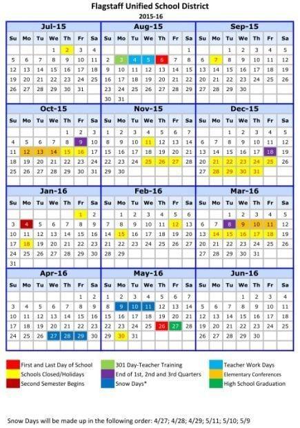 Fusd Adopts 2015 16 Calendar Education Azdailysun Com
