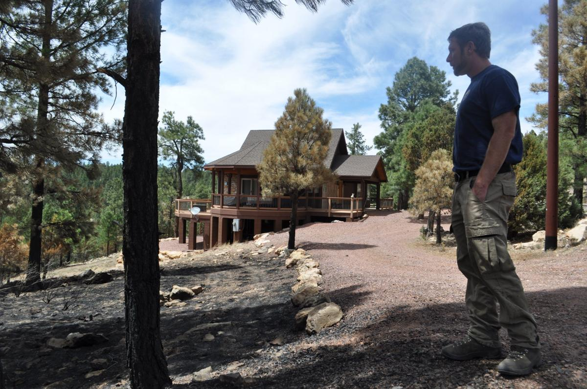 Fireproofed home on the Tinder Fire