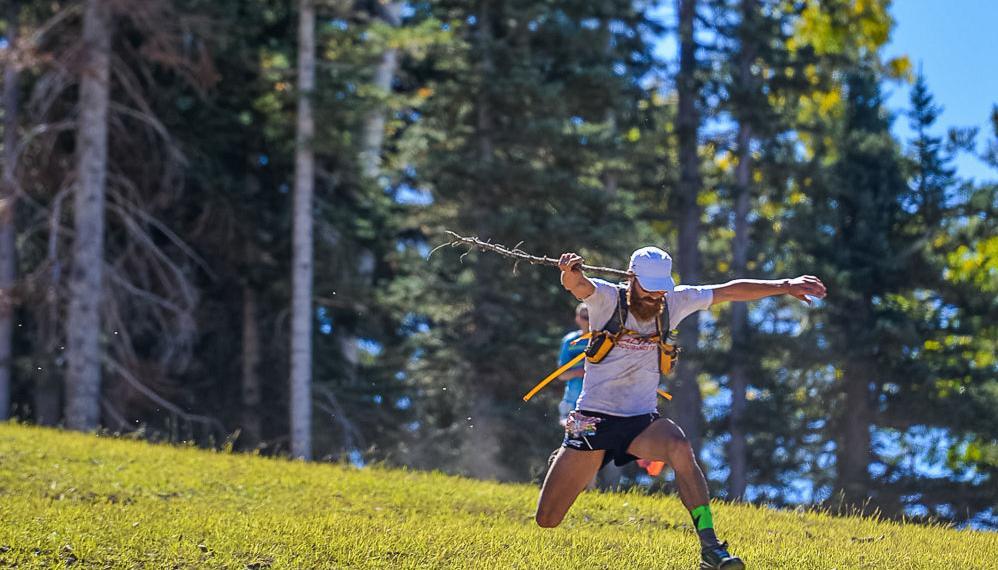 Tommy Rivers Puzey leaps down Agassiz Ski Slope
