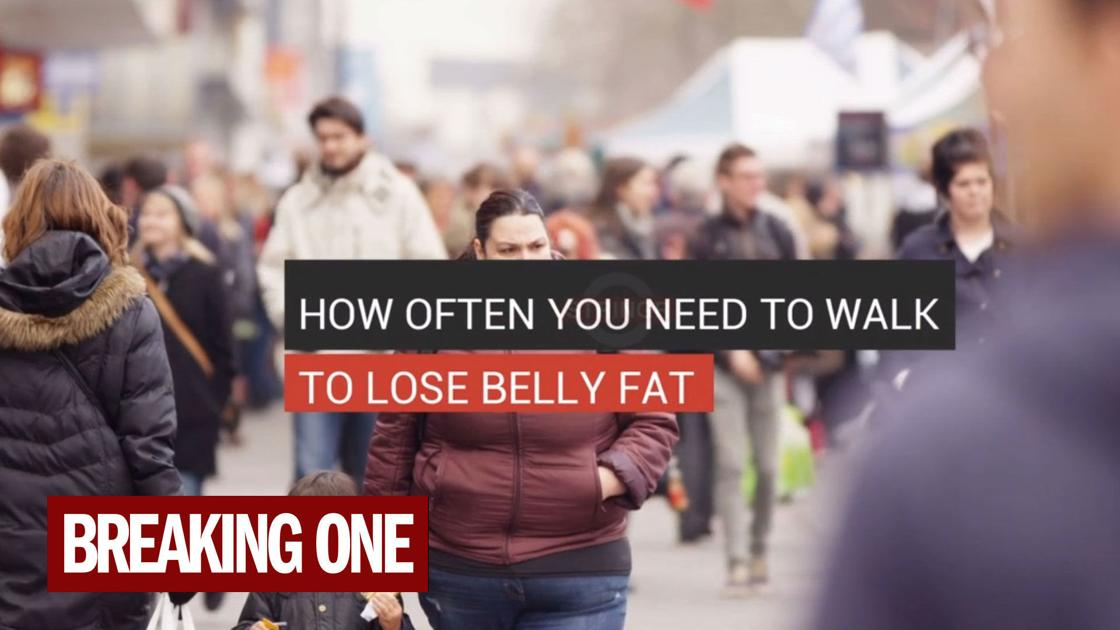 Here's how often you need to walk to burn belly fat