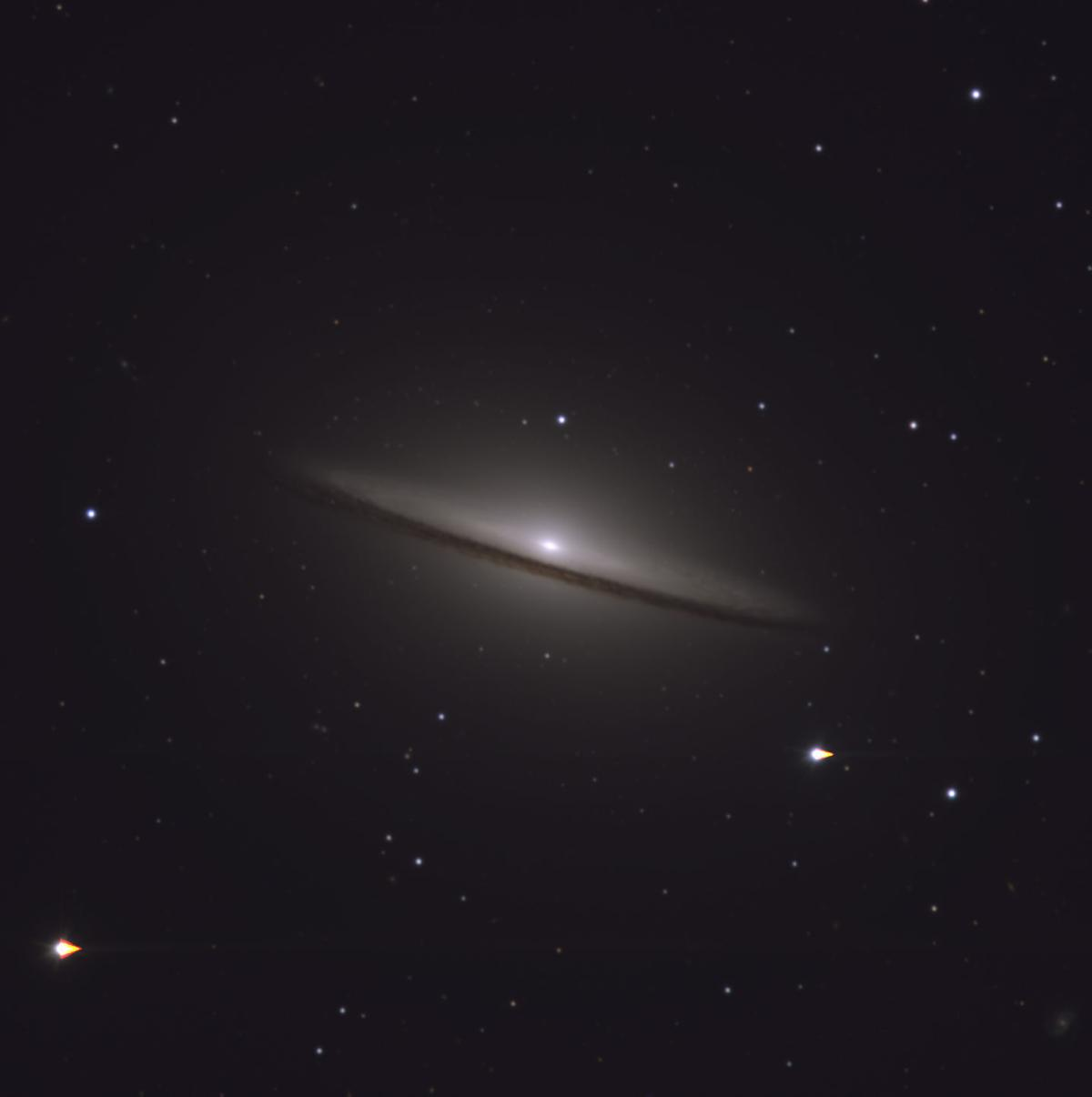 View from Mars Hill: Sombrero Galaxy on display for Cinco ...