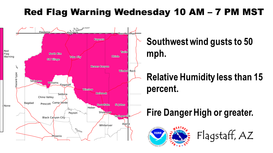 Red Flag warning on Oct. 9