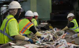 Recycling workers