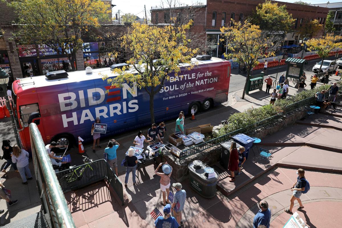 Biden Harris Bus Visits Flagstaff