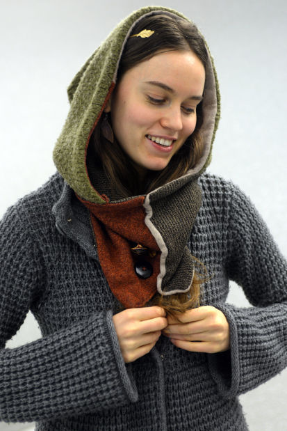 Homemade hooded scarf becomes style icon