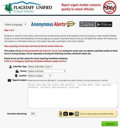 FUSD Anonymous Alerts