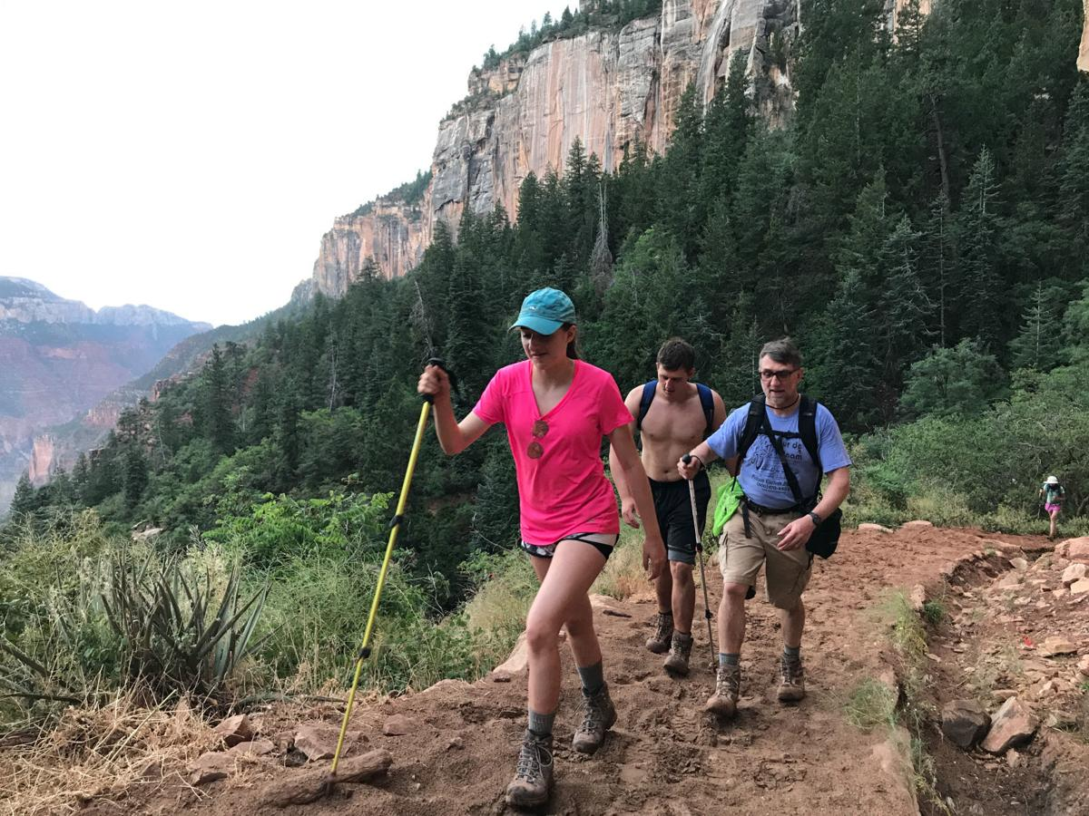 North Kaibab Trail hikers