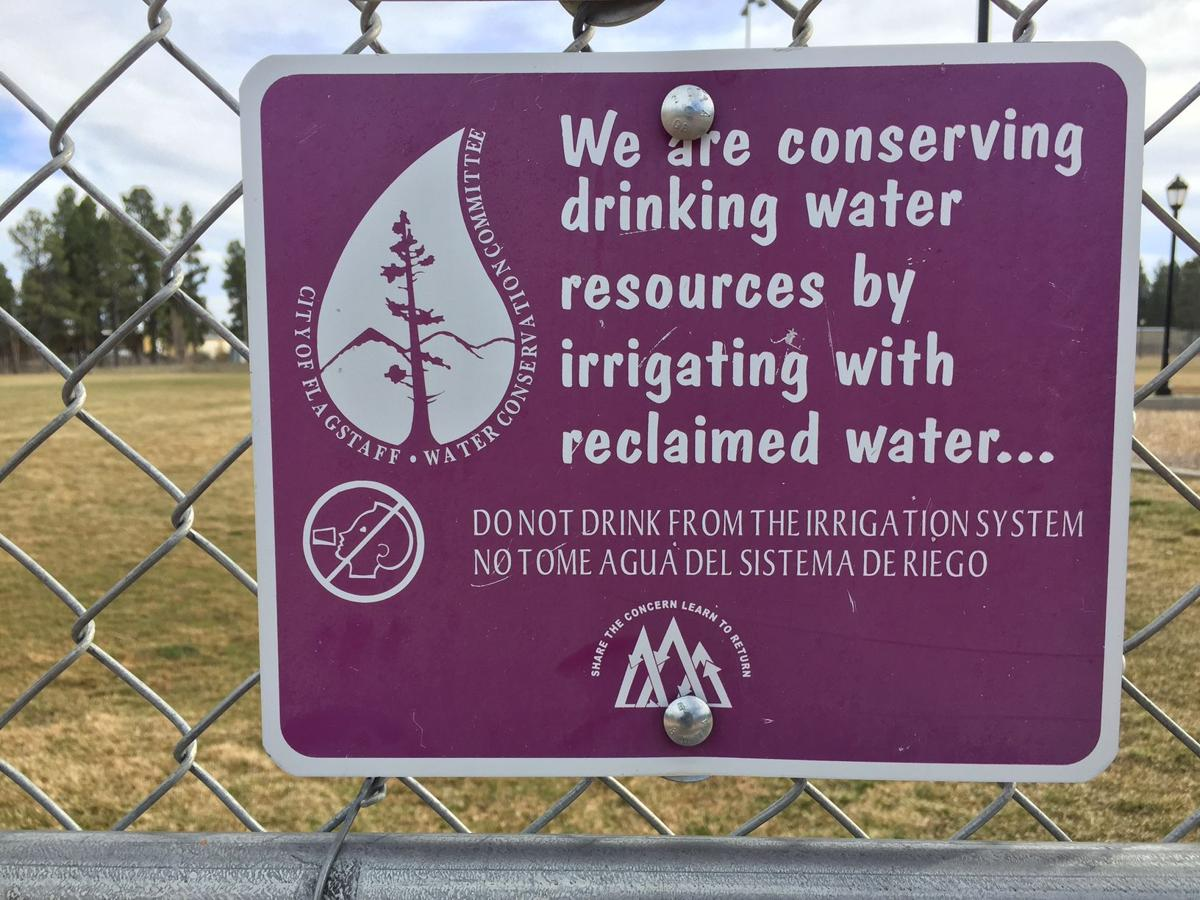 Reclaimed wastewater sign