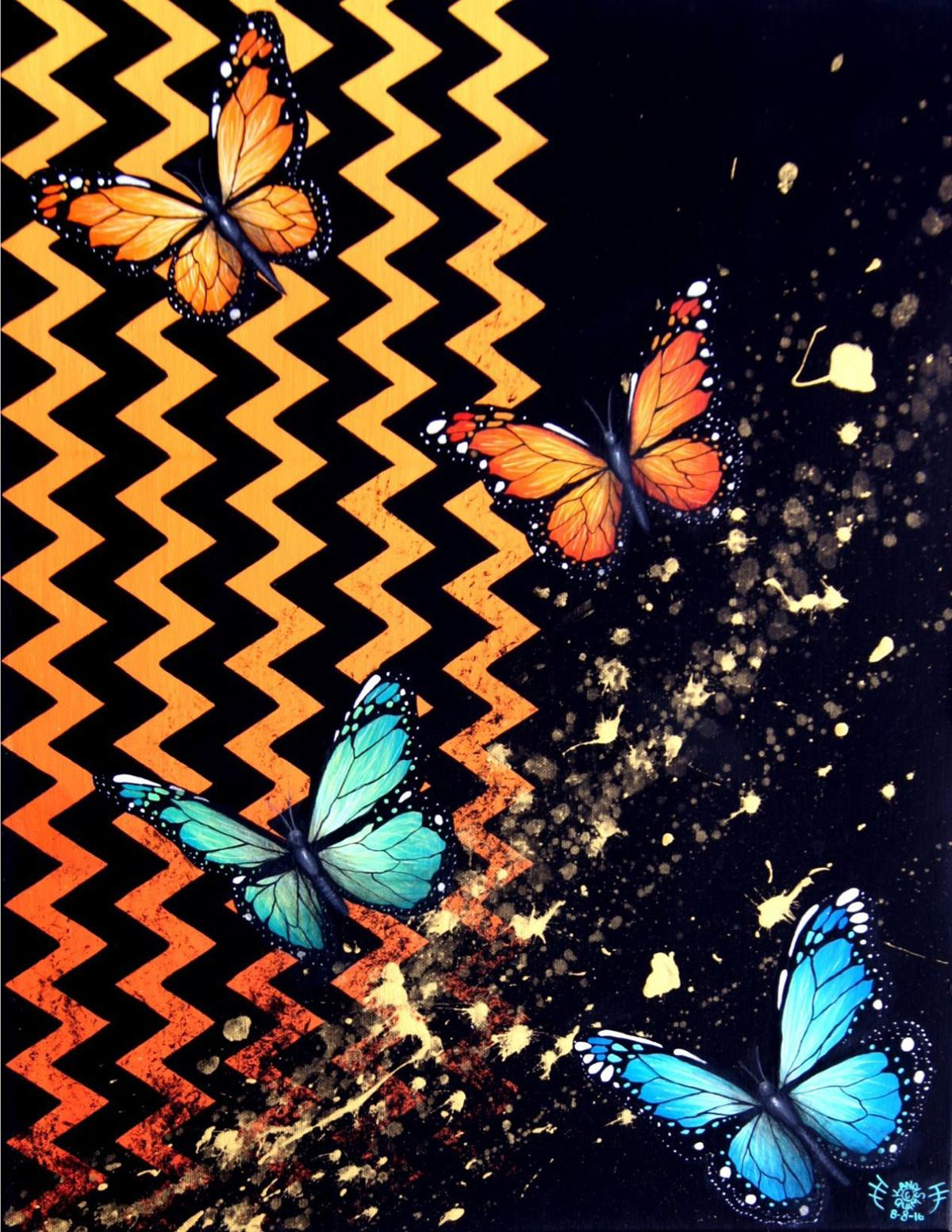 'Butterflies,' a visual piece from Zuni foods demonstrator Kandis Quam.