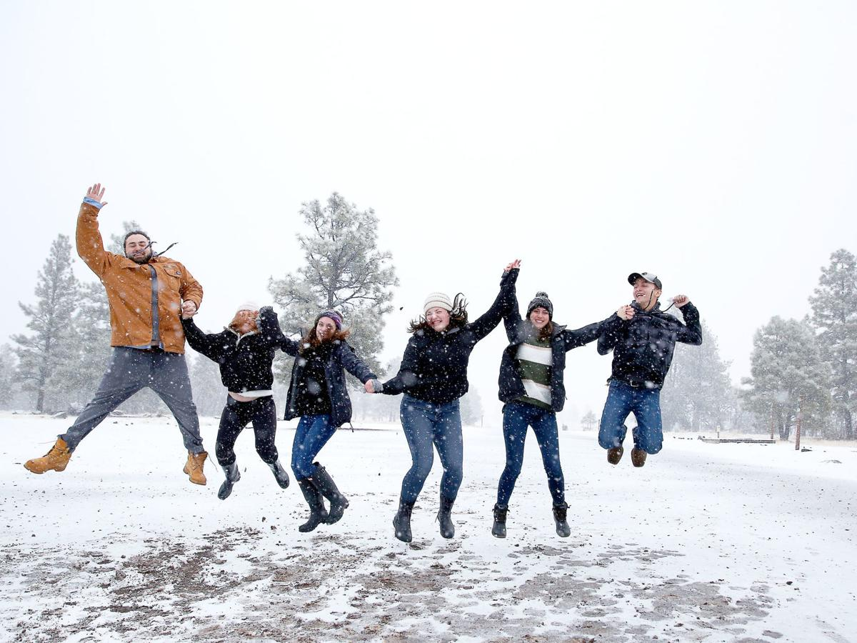 Jumping For The Joy of Snow