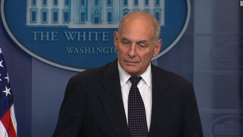 Kelly says he advised Trump on calls to families of fallen soldiers