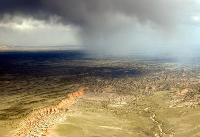 Painted Desert Thunderstorm (2012) by aerial photographer Greg Brown. Photo courtesy of the artist.