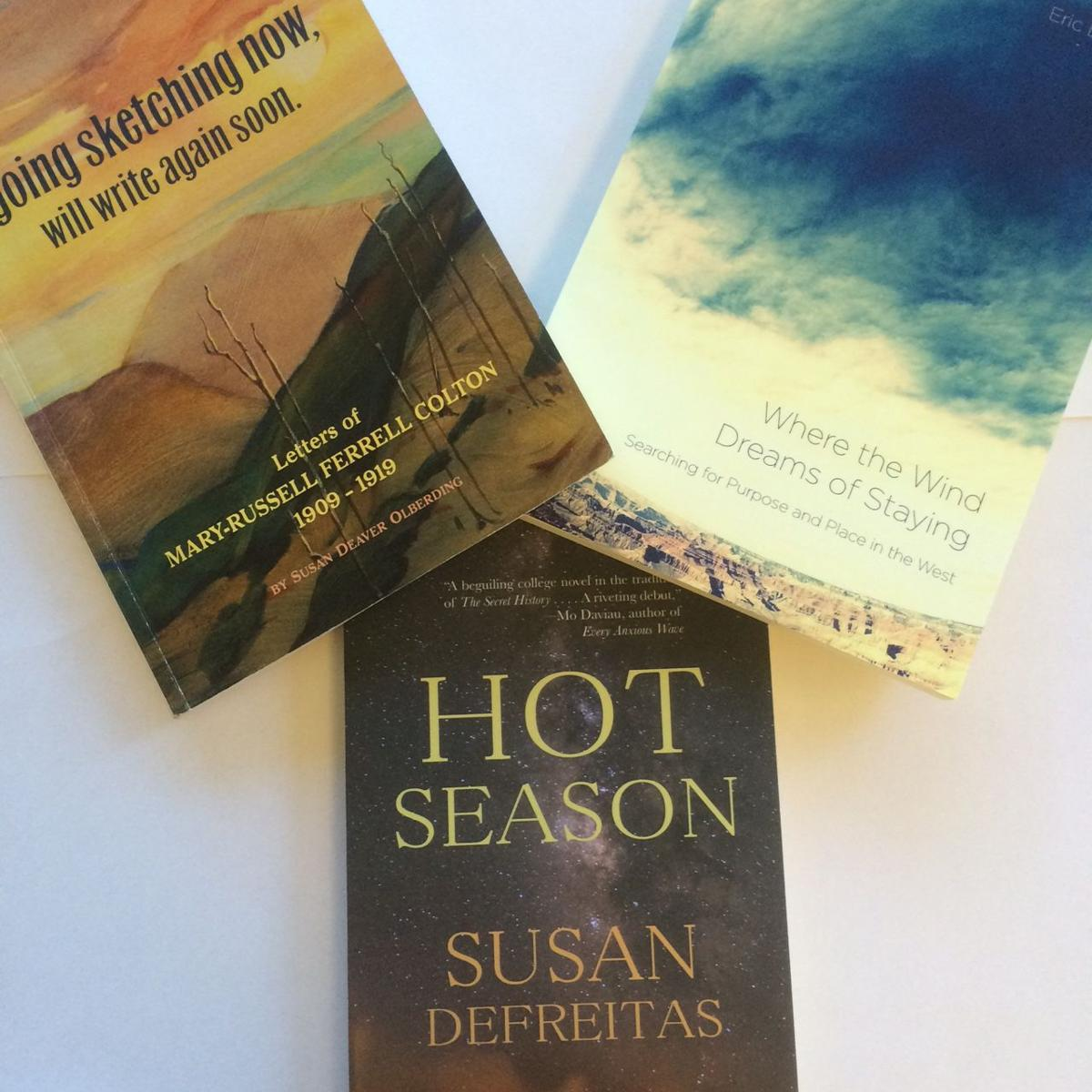 Book covers for new titles with Southwest themes.