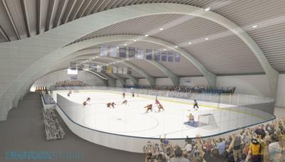 NAU ice hockey artist rendering