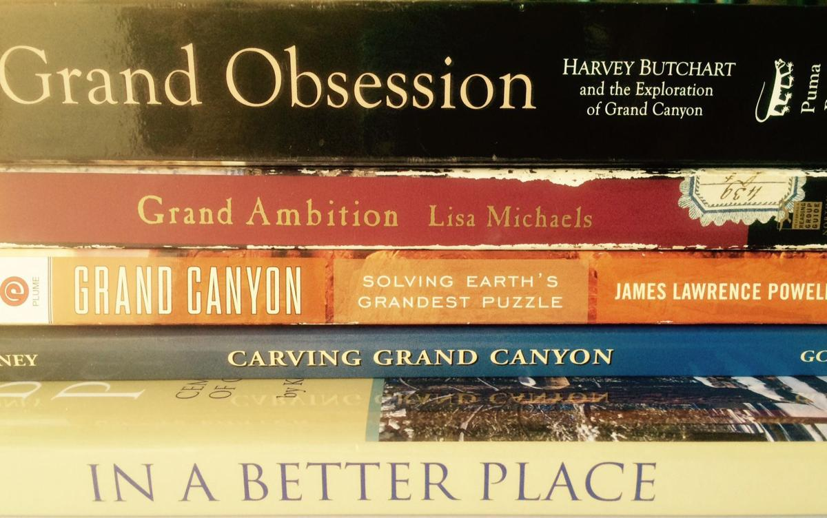 Spines of some great Grand Canyon books