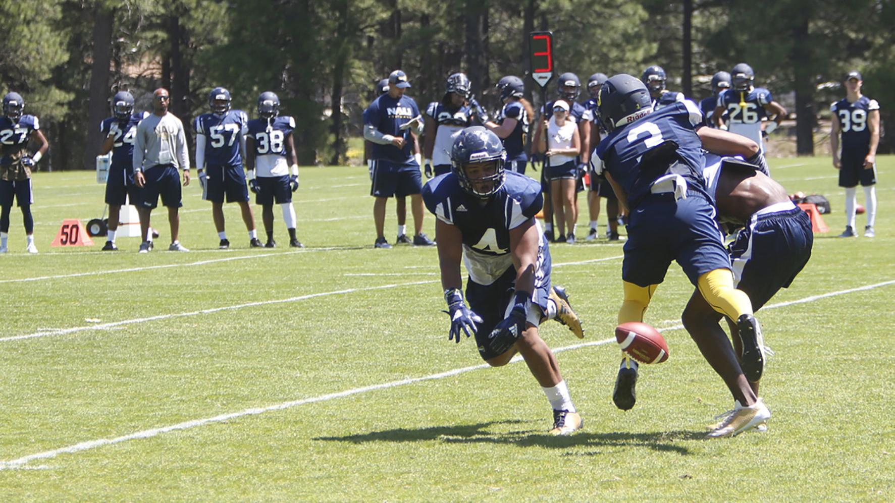 Competition in the middle of the Northern Arizona defense