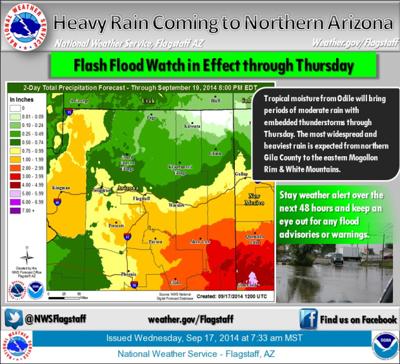 4 15 P M Update Rain For Flagstaff Still In Thursday Forecast