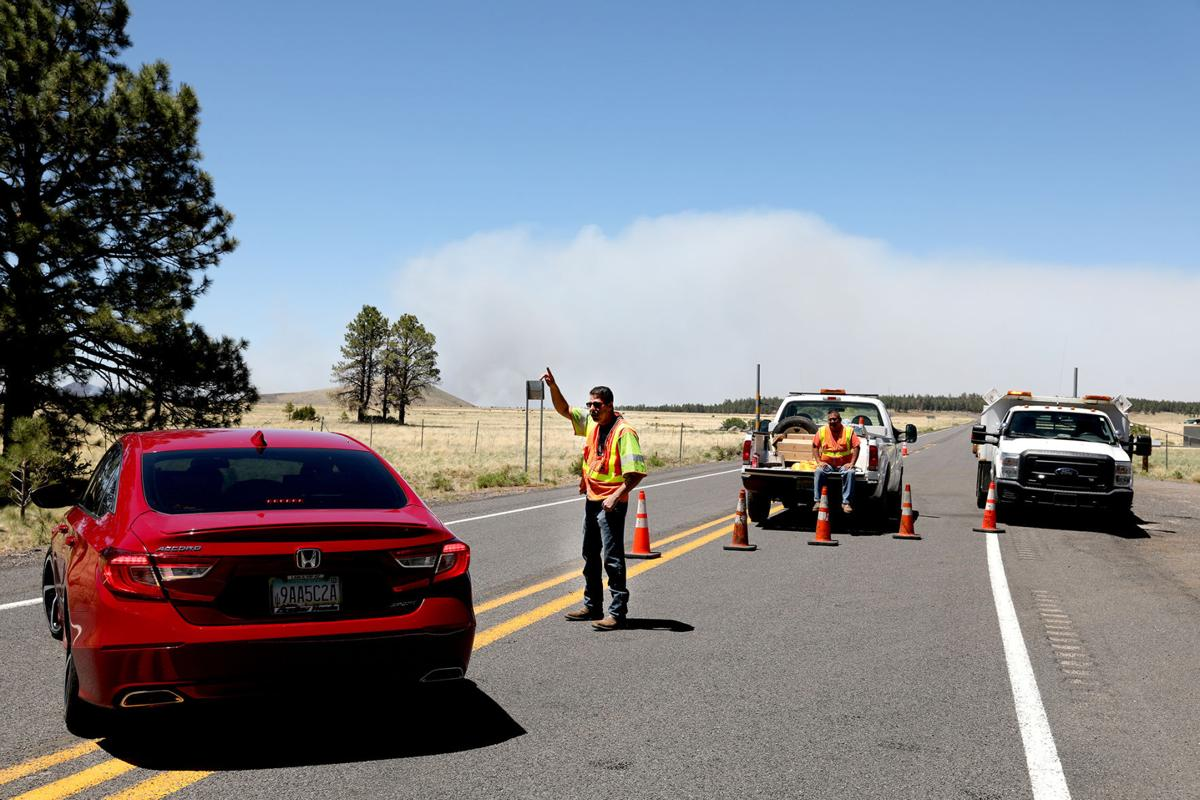 Fire Closes Highway 180
