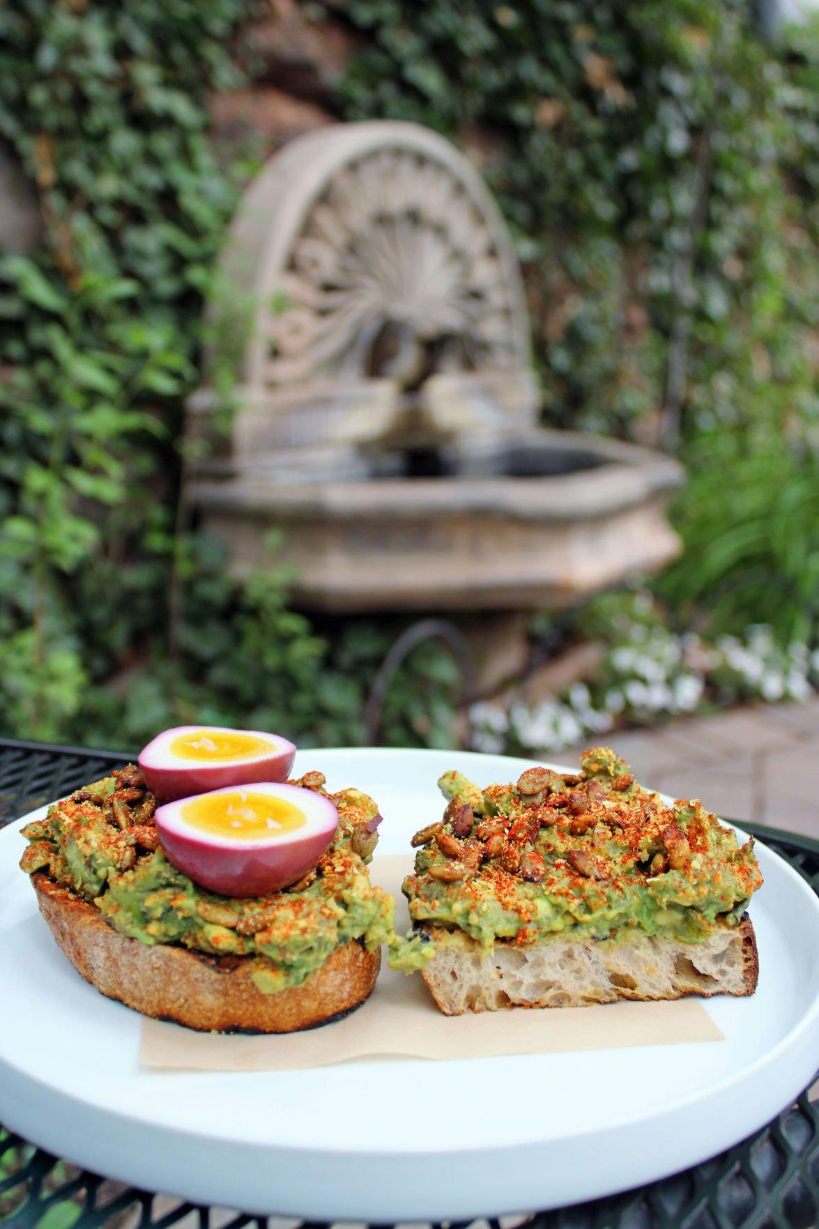 Avocado toast at Indian Gardens