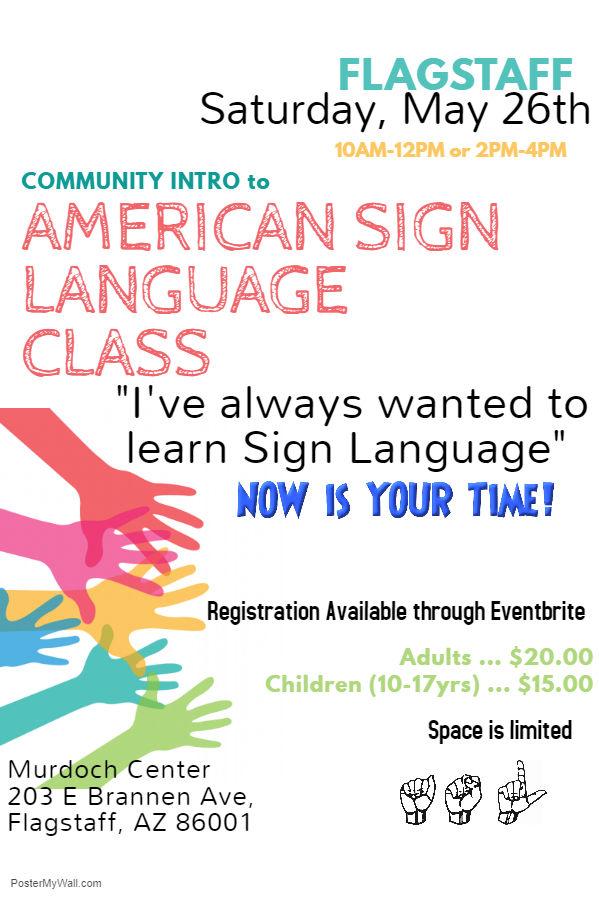 Flagstaff Community Sign Language Class